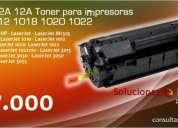Toner para impresoras 1010-1012-1018-1020-1022