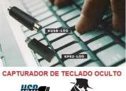 Capturador de teclado oculto espia para pc obten claves contraseñas chat email