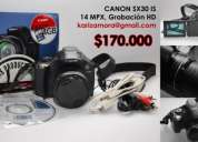 Cámara digital canon semi pro modelo sx 30