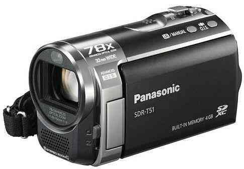 Vendo Panasonic Sdr-t51 Zom Optico 78x Memoria Interna 4gb Nueva. Mas accesorios.