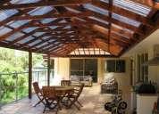 Decks, cobertizos,terrazas y pérgolas en madera