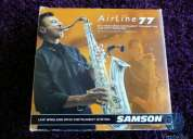 Micrófono para instrumentos de viento inalámbrico samson airline 77