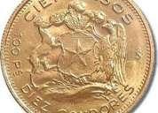 compro monedas de oro, todo el año 2012.