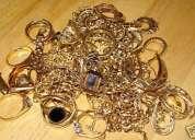Compro oro 18k como joyas a $15500 gramo pago efectivo,local ÑuÑoa