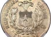 compro monedas de plata chilenas
