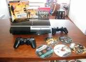 Playstation 3 negra muy cool y poco uso.