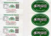 Etiquetas adhesivas en rollos