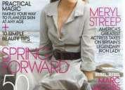 Lote de revistas gringas de moda ( elle, cosmopolitan, bazaar, vogue)