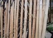 Maderas (palos)  eucalipto impregnado/ pino especiales para cerrar terrenos, etc.