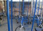 Triciclos publicitarios, botes a pedales, bici tandem, autos a pedales