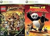 2 juegos en uno indiana jones lego y kung fu panda (infantiles) solo por $10.000