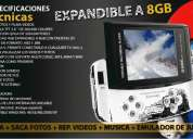 Mp5-mp4-mp3 player 2gb  camara 2.0 mpx memoria expandible 900 juegos nes nuevo en caja
