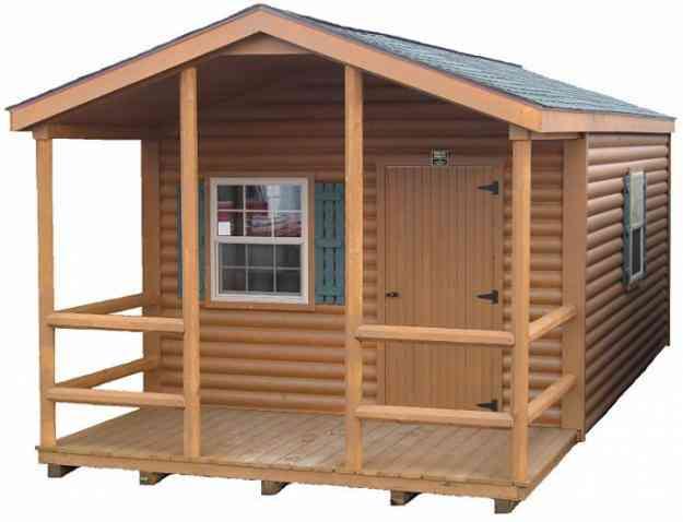Caba a b sica de madera de 32 mts2 algarrobo doplim 49916 for Cabana madera precio