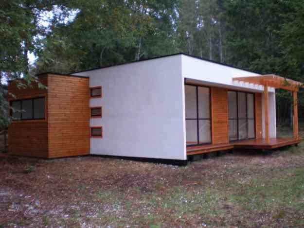 Caba a de madera modelo mediterraneo 65 mts2 la florida for Precios de cabanas prefabricadas