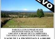 (056) se vende parcela con vista al volcÁn