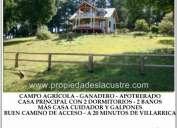 (112) campo agrÍcola y ganadero con casa