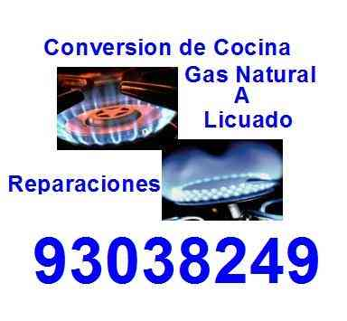 Conversion de Cocina Gas Natural A Licuado