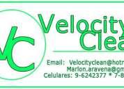 Velocity clean 9-6242377 * 7-8331017 velocidad en limpieza a domicilio