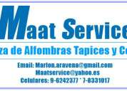 Limpieza de tapices cortinas inundaciones sanitización  9-6242377 * 7-8331017