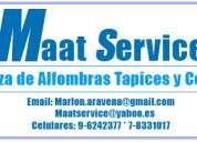 7-8331017 maat service desmanchar lavar alfombras tapices cortinas sillas sillones sitiales