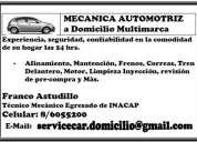 Mecanico automotriz a domicilio multimarcas (especialista en subaru)