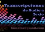 Transcripciones audio a texto