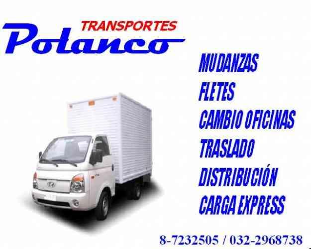 FLETES MUDANZAS TRANSPORTES POLANCO CARGA EXPRESS CON CON V REGIÓN SANTIAGO REGIONES