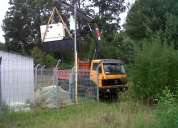 Arriendo camión grua 4x4.