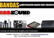 Bbb sound. arriendo de sistemas de amplificación. bueno, bonito, barato