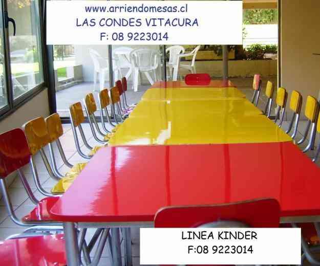 ARRIENDO MESAS Y SILLAS F: 08 9223014