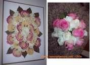Promocion verano enmarcado de tu ramo de novia de rosas con amor
