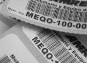 Etiquetas activos fijos (control inventario)