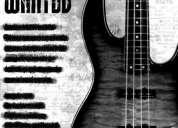 Se busca bajista para banda de rock