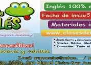 Clases de inglés y otros productos en inglés
