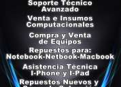 Servicio tecnico notebook, macbook, netbook, mac, pc