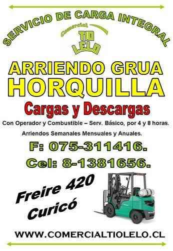 ARRIENDO GRUA HORQUILLA