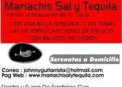 4 mariachis x $ 50.000. sal y tequila serenatas mariachis