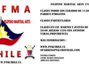 Clases artes marciales filipinas