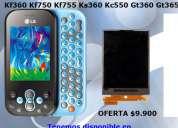 Venta pantalla lcd lg gt-360 gt360