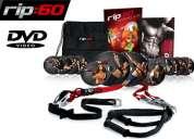 Equipo para entrenamiento en suspensión mejor que trx + 12 dvd y