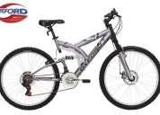 Vendo bicicleta oxford geyser aro 26 doble suspension freno disco