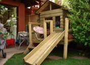 casas de muñecas en madera impregnada