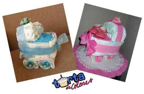 Torta de Pañales y Animacion de Baby Shower Santiago
