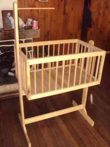 Hermosa cuna para bebe de madera nueva temuco doplim for Cunas para bebes de madera