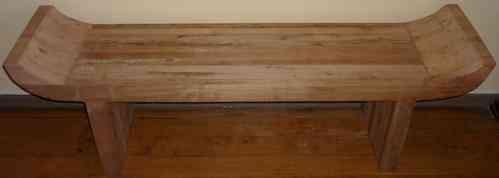Banqueta estilo r stica madera de roble de demolici n for Banquitas de madera para jardin