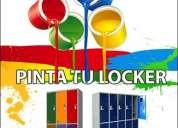 Casilleros con puertas de colores, colgador , portacredencial