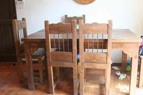 Vendo mesa comedor de madera con 6 sillas las condes for Comedores 8 sillas chile