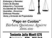 Abogados civil, familia y penal, sexta region