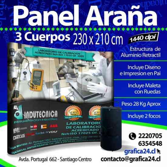 PANEL PUBLICITARIO PARA EVENTOS y FERIAS  **Panel Araña**