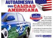 Publicidad grafica autoadhesiva y magnetica para vehiculos